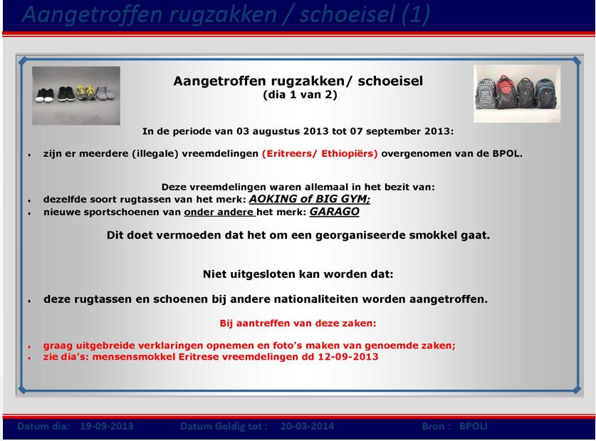 Powerpointpresentatie COA-terugkomdag, 10 oktober 2013