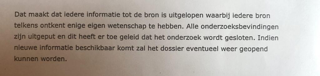 Brief van Daphne van der Zwan aan advocaat Leonie Sinoo